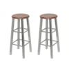 Set 2 barske stolice od drveta i čelika