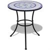 vidaXL Mozaik Stol 60 cm plavi / bijeli