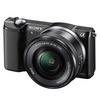 SONY digitalni fotoaparat ILCE-5000LB + objektiv 16-50mm črn