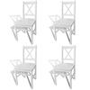 vidaXL Set od 4 drvene kuhinjske stolice, bijeli
