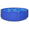 VIDAXL bazen okrugli sa čeličnim okvirom 457 x 122 cm