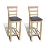 VIDAXL barske stolice, drvene, bež