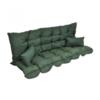 VIDAXL set jastuka za vrtnu ljuljačku zelena