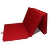 vidaXL Sklopivi madrac od pjene, 190 x 70 9 cm, crveni