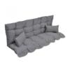 VIDAXL set jastuka za vrtnu ljuljačku plava / zelena