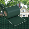 vidaXL Omotač za ograde PVC tkani zeleni 70 x 0,19 m