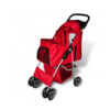 VIDAXL voziček za psa rdeč