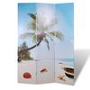 vidaXL Sobna pregrada ispisom plaže 120 x 180