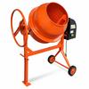 VIDAXL kovinski mešalec betona, oranžen
