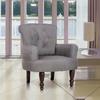 vidaXL Fotelja u francuskom stilu s naslonima za ruke, Siva