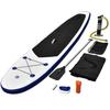 VIDAXL SUP addle board set na napuhavanje, plavo-bijeli