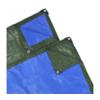 VIDAXL zaštitna cerada 10x10 m, zeleno-plava