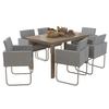 vidaXL Blagovaonske stolice s naslonima, Svjetlo siva, 6 kom