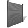vidaXL Četvrtasta panel ograda od drvoplastike, siva