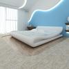 vidaXL Krevet sa Madracem od Memorijske pjene 180x200 cm Umjetna koža Zaobljeni Bijeli (243146+241076)