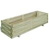 vidaXL Pravokutna drvena tegla za sadnju bilja