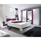 HELVETIA Spavaća soba ANNA (bijela-ljubičasta)