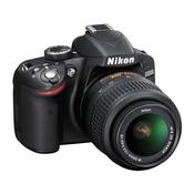 NIKON D-SLR fotoaparat D3200 + AF-S DX 18-55mm VR, črn