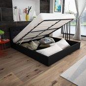 vidaXL Okvir Kreveta na Podizanje 160x200 cm,Vještacka koža Crni