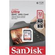 SanDisk Ultra SDXC 32GB 80MB/sec