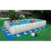 bazen Intex Ultra Metal 732 x 366 x 132 s filtrom na pesek od 6,0 l/h in generatorjem klora