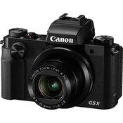 CANON kompaktni fotoaparat PowerShot G5 X, črn