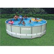 Intex bazen Ultra Frame Set 488 x 122 cm, s kartonskom pumpom, ljestvama, podlogom, presvlakom (28322NP)