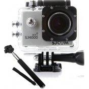 SJCAM sportska kamera s vodootpornim kućištem SJ 4000 WiFi, srebrna