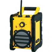 CLATRONIC radio za gradbišče BR 816, rumena, črna