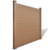 vidaXL Četvrtasta panel ograda od drvoplastike, smeđa
