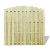 vidaXL Panel ograda od Borovine Zelena sa zaobljenim dizajnom
