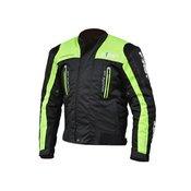 FIRST motoristična tekstilna jakna SPORT, črna-rumena