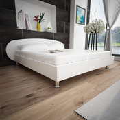 vidaXL Bijeli Krevet Umjetna Koža 140 x 200 cm