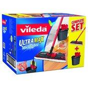 VILEDA ultramax komplet čistilec z držalom + vedro z ožemalnikom