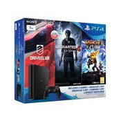 PlayStation® PS4 Slim 1TB, Uncharted 4, Drive Club i Ratchet and Clank