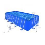 VIDAXL bazen z jeklenim okvirjem lestvijo in črpalko (540x270x122cm)