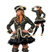 Ženski kostum piratka black gold