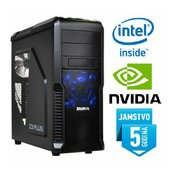 Računalo INSTAR Gamer Profundis Pro GT, Intel Core i5-7500 up to 3.80GHz, 8GB DDR4, 120GB SSD  1TB HDD, Nvidia GeForce GTX1050Ti 4GB DDR5, DVD-RW, 5 god jamstvo