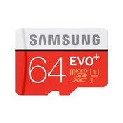 Samsung micro SDXC 64 gigabytes EVO Plus + SD Adapter
