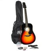 Akustična gitara set SA1-SK-VS/BK