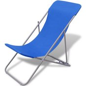 vidaXL Sklopive Stolice za Plažu Plave 2 kom