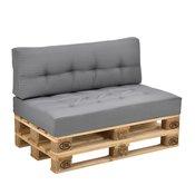 [en.casa]® Set jastuka za namještaj od paleta - (svijetlo sivo, 2xJastuk za namještaj od paleta)