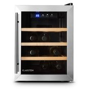 KLARSTEIN Reserva12 UNO, 33 litara, hladnja za vino, 12 boca, od nehrđajućeg čelika, LED