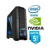 Računalo INSTAR Gamer Zeus Master, Intel Core i7-7700 up to 4.2GHz, 8GB DDR4, 128GB SSD  1TB HDD, GeForce GTX1060 6GB DDR5, DVD-RW, 5 god jamstvo