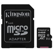 KINGSTON memorijska kartica 64GB SDC10G2/64GB + SD adapter