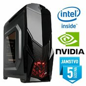 Računalo INSTAR Gamer Dominator Ti, Intel Core i5-4460 up to 3.4GHz, 8GB DDR3, 1000GB, GeForce GTX1050 2GB DDR5, DVD-RW, 5 god jamstvo