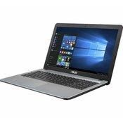 notebook Asus X541UA-GO1382T, 15.6 HD, Intel Core i3-6006U 2.0GHz, 4GB DDR4, 256GB SSD, Intel HD graphics 520, no ODD, Win 10, 2 god  X541UA-GO1382T