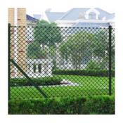 VIDAXL rešetkasta ograda sa stupovima i opremom 1 x 15 m  140353 zelena
