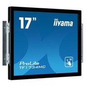 iiyama iiYama ProLite TF1734MC-B1X 17' LED LCD PCAP Frameless 10P Touch Screen 1280x1024 Flat Frameless glossy VGA DVI 225 cd/mÂ2 1000:1 5ms USB external PSU VESA 100 (TF1734MC-B1X)