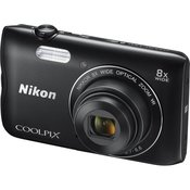 NIKON A300 20.1 MP CCD 8x optical Black